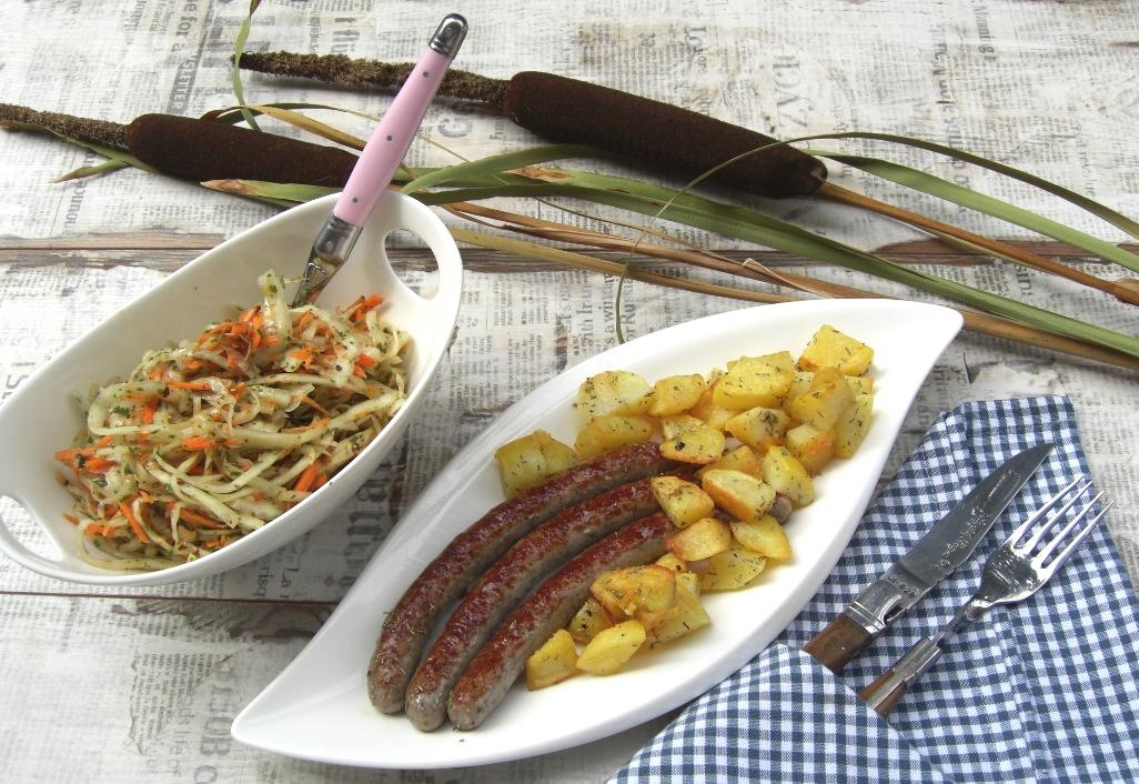 Nürnberger mit Bratkartoffeln