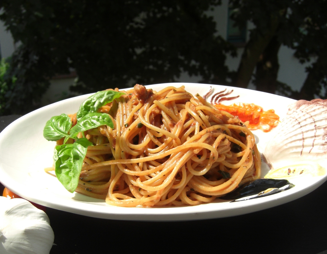 Pasta outside