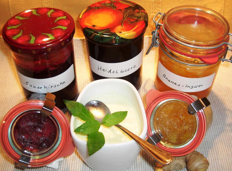 Rezept Ananas Marmelade und EisBIG