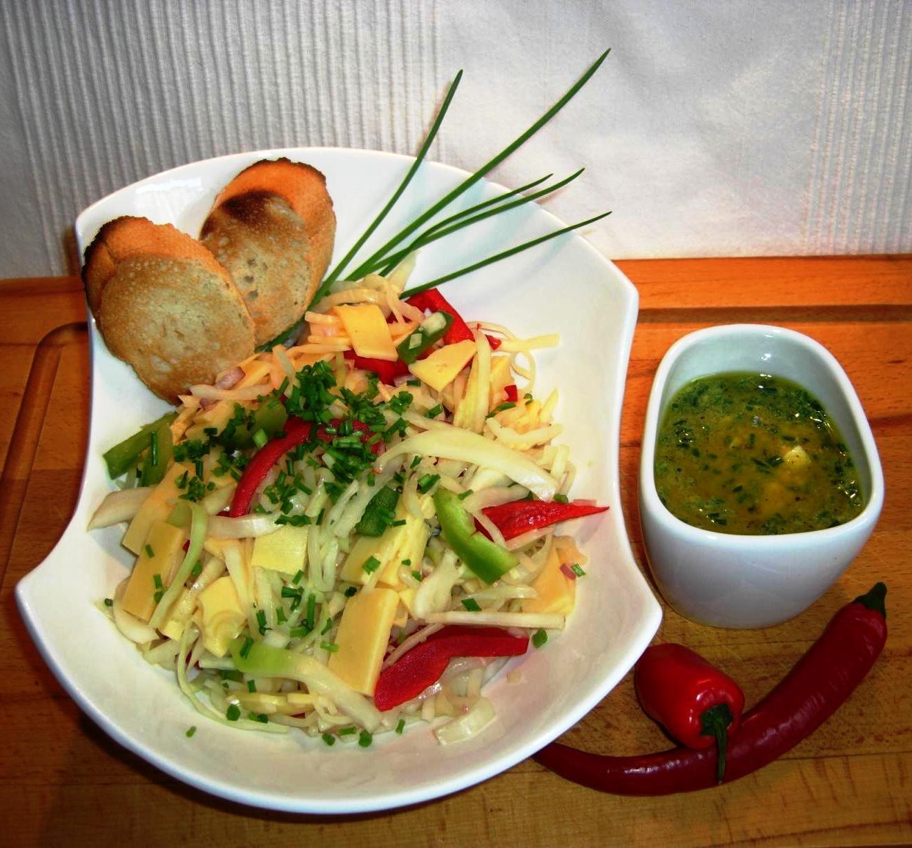 Rezept Kabis Salat mit KäseBIG