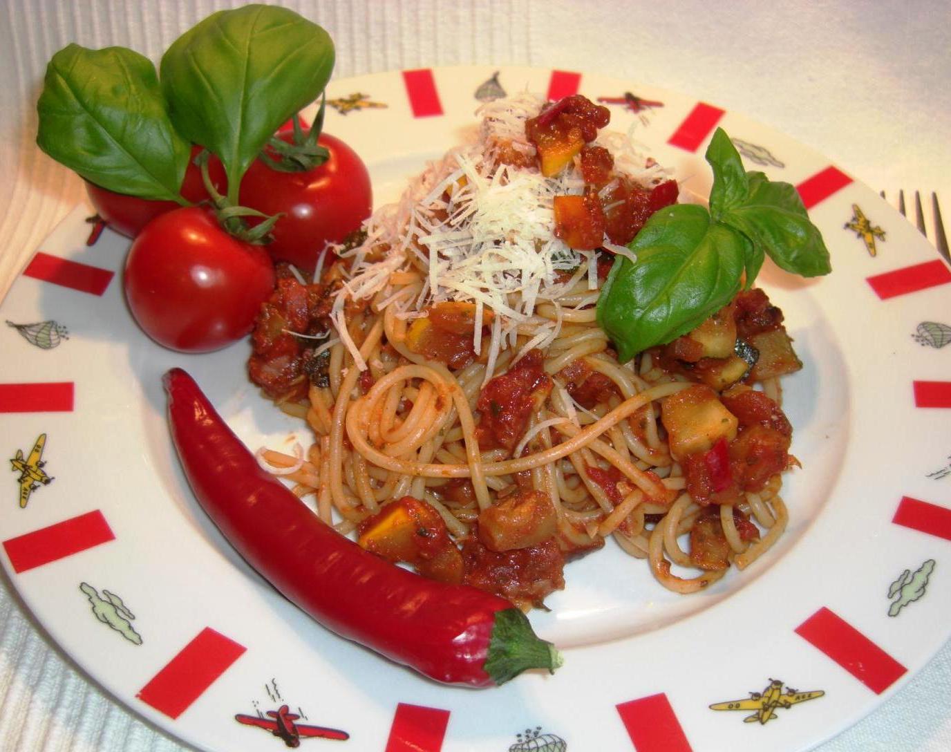 Rezept Zucchini Tomaten Bolognese STANDARTBIG