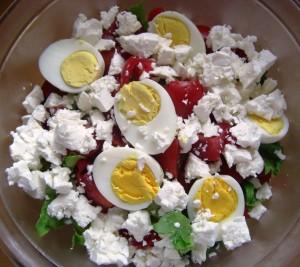 Zutaten Bunter Salat mit Schafskäse