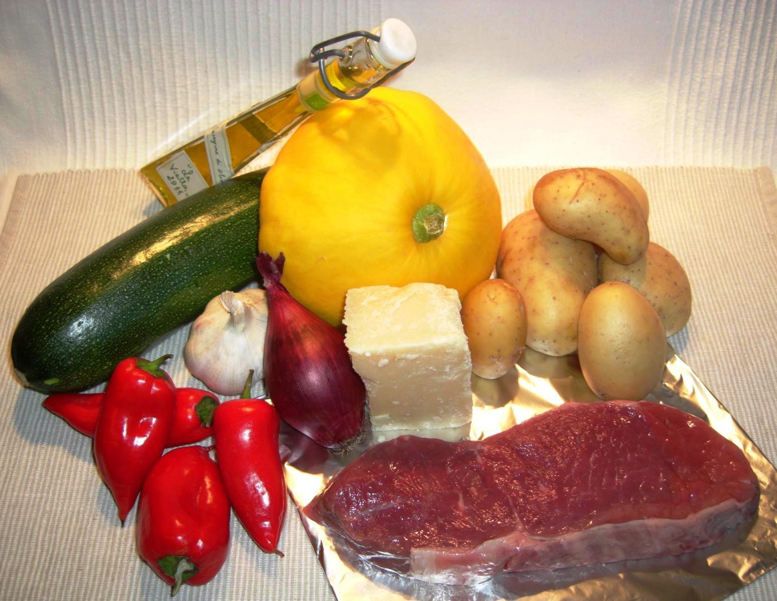 Zutaten Grillsteak mit GemüsesäckchenBIG
