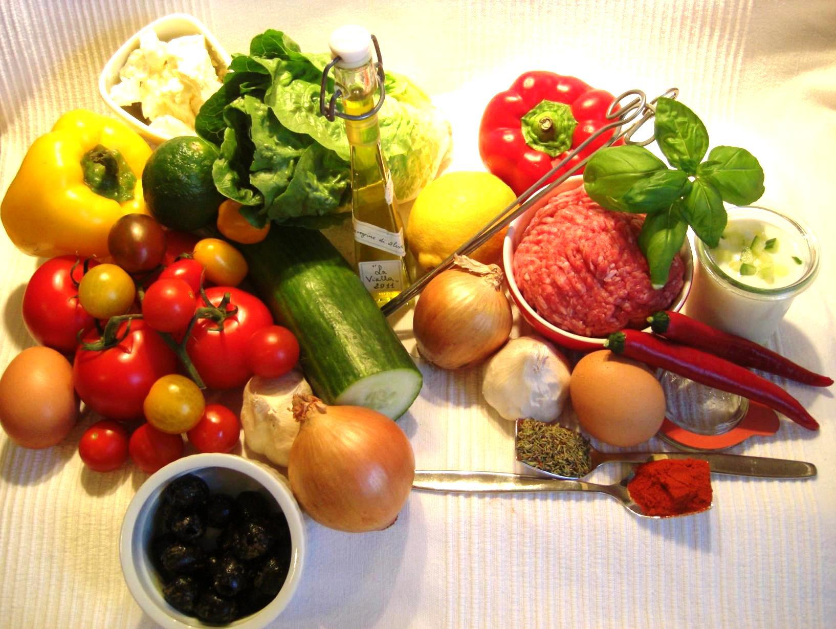 Zutaten Hirtensalat und HackspießeBIG