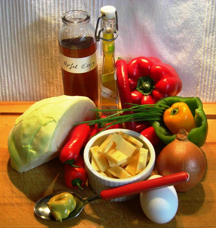 Zutaten Kabis Salat mit KäseBIG