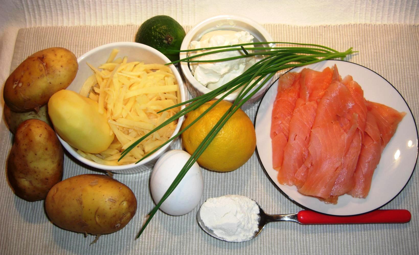 Zutaten Kartoffel Rösti mit LachsBIG