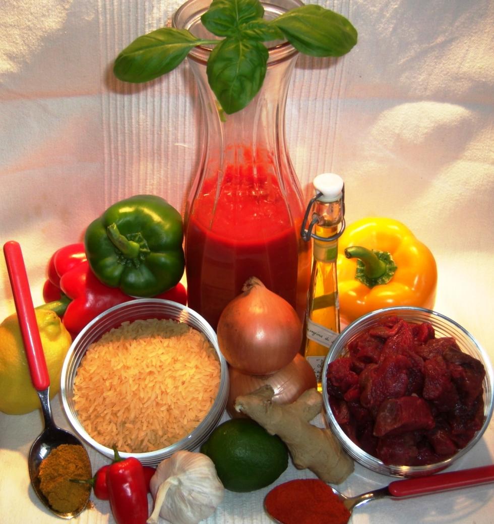 Zutaten Reisfleisch Balkanart NEU