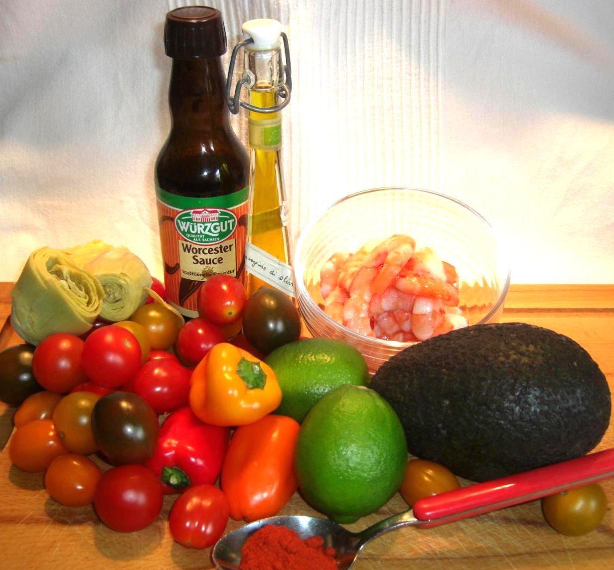 Zutaten Südamerika SalatBIG